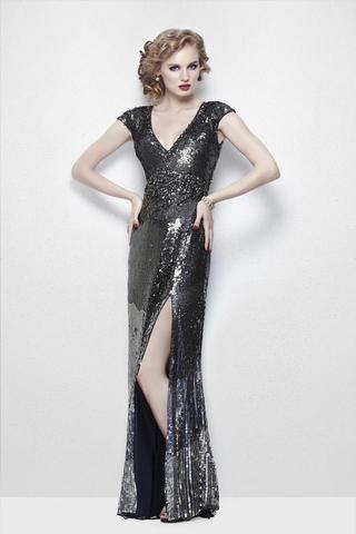 Длинное платье с рукавом Roseline 99256