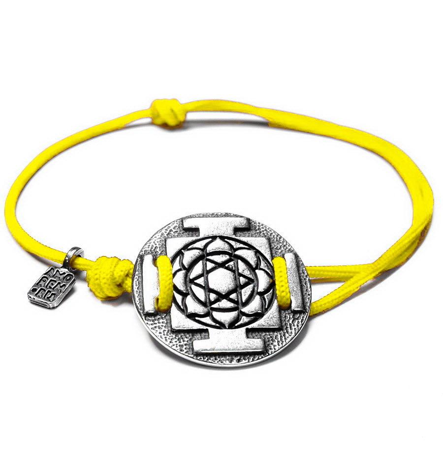 Yantra Lakshmi (Laxmi) Bracelet, sterling silver