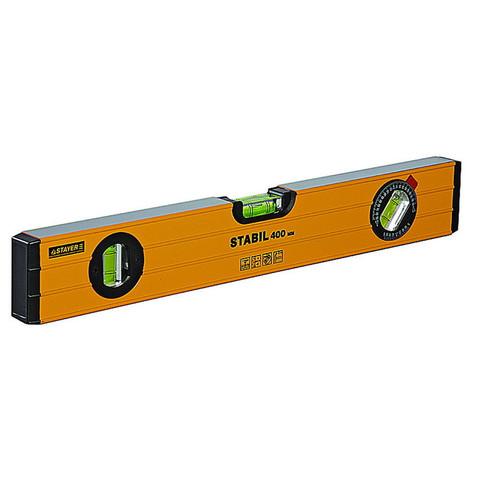 Уровень Stayer Stabil алюминиевый 3 глазка, длина 40 см (3471-040)