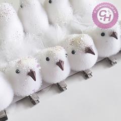 Птички с блестками на зажиме, 11*3 см, 1 шт.