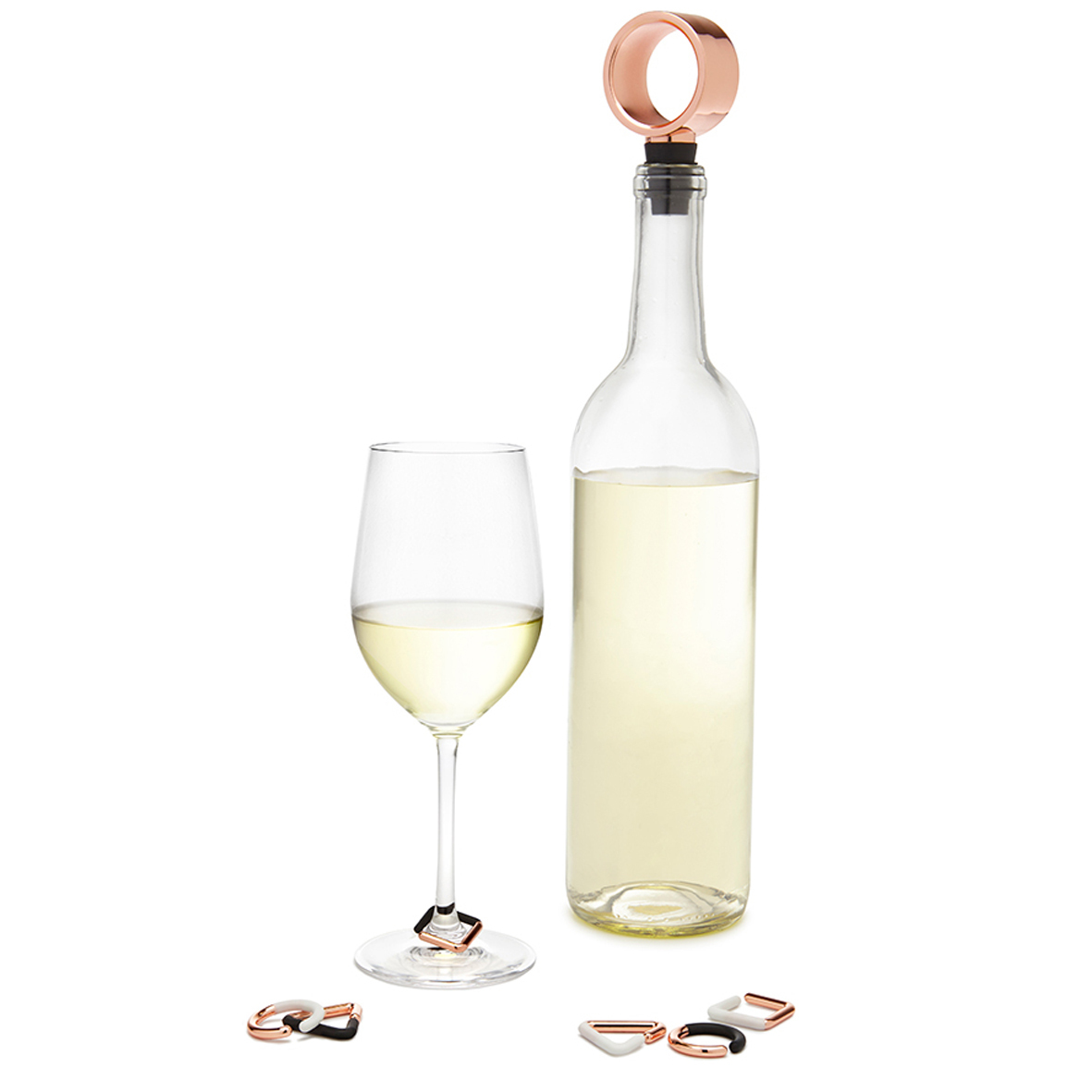 Набор из пробки для бутылки и маркеров для бокалов