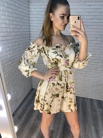 летнее платье с коротким рукавом nadya