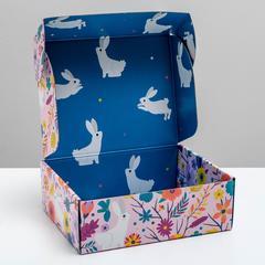 Коробка двухсторонняя складная «Флористика», 27 × 21 × 9 см, 1 шт.