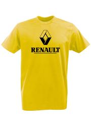 Футболка с принтом Рено (Renault) желтая 002