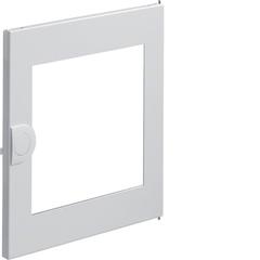 Дверца с прозрачным окном запасная, для встраиваемого щитка,Volta,1-рядного RAL9010