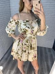 летнее платье с коротким рукавом недорого