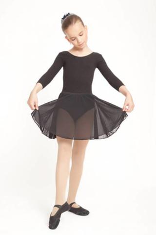 Юбочка балетная черная (на резинке) р.30 арт 4121 шифон СаЛ (4121)