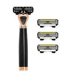 Shave Lab AON Бритва для мужчин Черный/золото, комплект 6 лезвий х 4шт.
