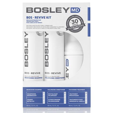 Bosley MD Revive Синяя линия: Система от выпадения и для стимуляции роста неокрашенных волос (BosRevive Starter Pack For Non Color-Treated Hair), 150мл*2+ 100мл