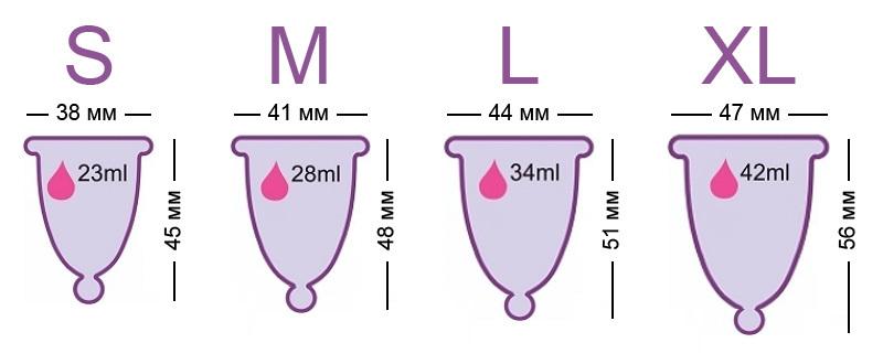 Размеры чаш Meluna