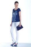 Блузка для беременных 07763 синий