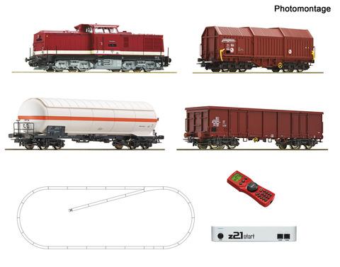 Цифровой стартовый набор Z21 Тепловоз class 114 + 3 грузовых вагона, DR, Ep.IV