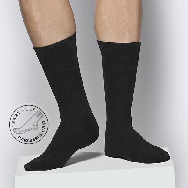 Носок мужской высокий MSC-101 плюшевый след