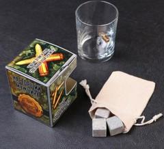 Набор из стакана с пулей + камни для виски «Военный», фото 2