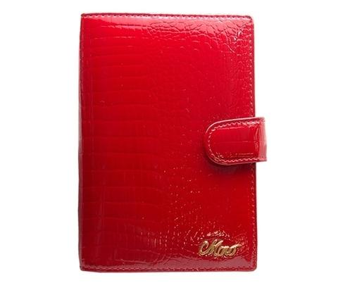 Красная обложка на автодокументы из кожи Moro Jenny