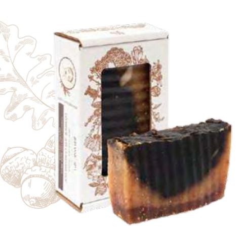 Соляное мыло «Для сужения пор» при жирной и проблемной коже. Сварено из растительных масел горячим способом, 110 ± 10 г
