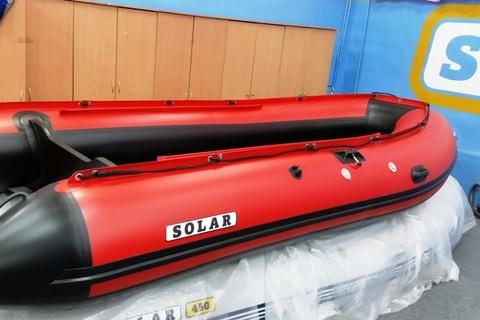 Надувная ПВХ-лодка Солар - 380 Jet Tunnel (красный)