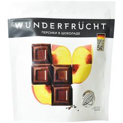 WunderFrucht Конфеты Персик в темном шоколаде 54%, 180 г