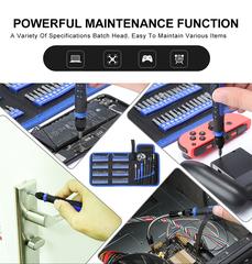 Набор инструментов для точных работ с гибким валом и сменными битами KniknakTech 126 в 1