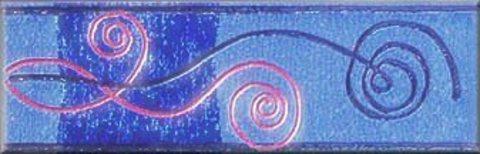 Бордюр Лира Керамика Кувшинка BC1C-041 8х25