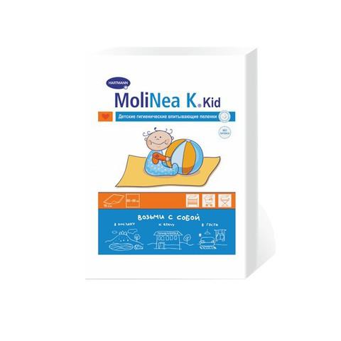 Хартманн MOLINEA K пеленки детские гигиенические Возьми с собой 60х60 см 10 шт