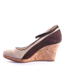 Замшевые туфли бежевые скала