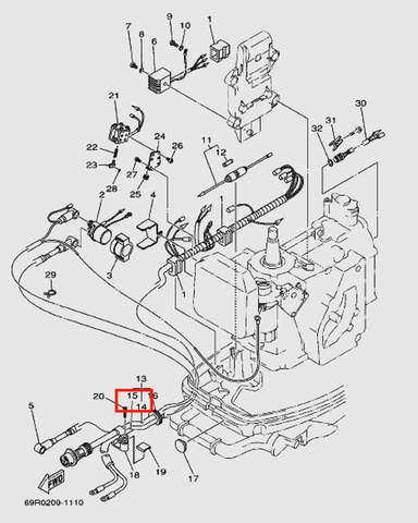 Жгут проводов для лодочного мотора Т30 Sea-PRO (9-14/15W)