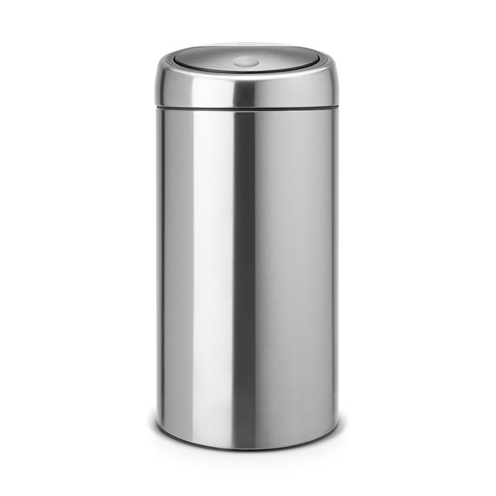 Двухсекционный мусорный бак Touch Bin (2х20 л), Стальной матовый (FPP), арт. 401084 - фото 1