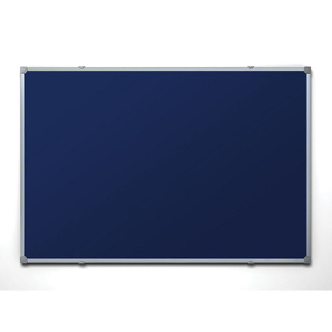 Доска текстильная Attache 100х150 см цвет покрытия синий алюминиевая рама