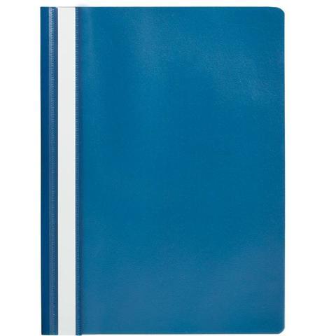 Скоросшиватель пластиковый Attache A4 до 100 листов синий (толщина обложки 0.13/ 0.15 мм, 10 штук в упаковке)