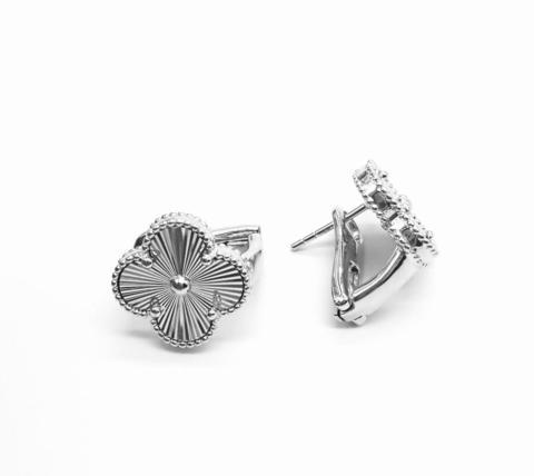 90265- Серьги Trendy из серебра с алмазными гранями 1 мотив