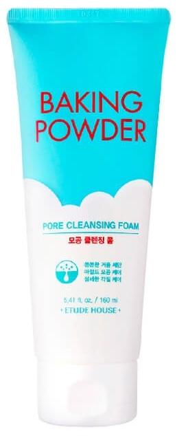 Etude House Baking Powder Pore Cleansing Foam очищающая пенка с содой 160мл