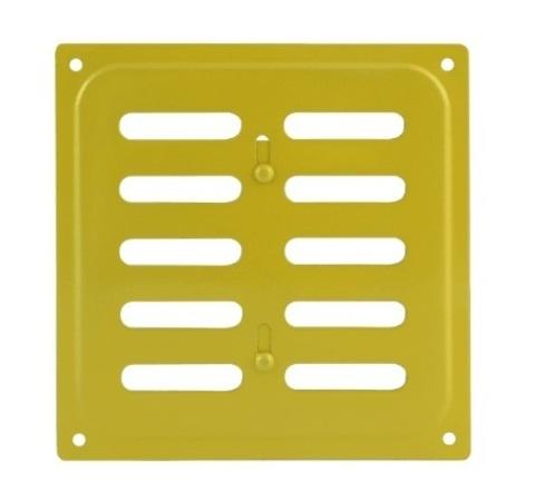 Решетка с заслонкой (заглушкой) 160х160 мм Золото