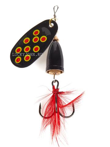 Блесна вращающаяся Lucky John Bell Spin №1, 3.5 г, цвет BRD