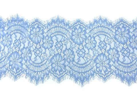 Кружево реснички голубое (24*290 см)