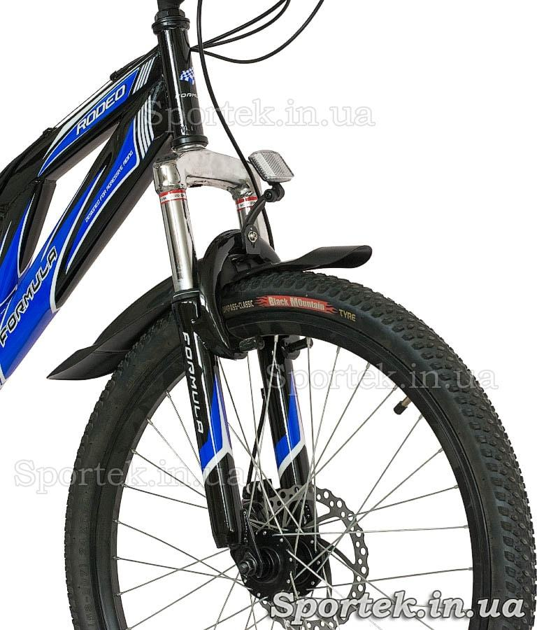Амортизационная вилка горного универсального велосипеда Формула Родео (Formula Rodeo DD 2015)