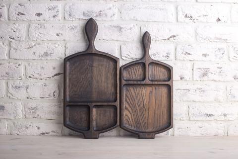 Фото представлено для сравнения размеров и формы средней и большой сковородки