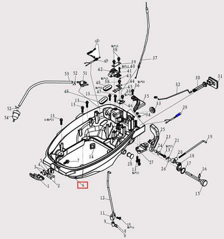 Поддон двигателя для лодочного мотора F9.8 Sea-PRO (2-6)