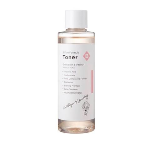 Тонер-эксфолиант с гликолевой кислотой и комплексом витаминов Village 11 Factory B Skin Formula Toner