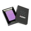 Зажигалка Zippo с покрытием Abyss, латунь/сталь, сиреневая, глянцевая, 36x12x56 мм