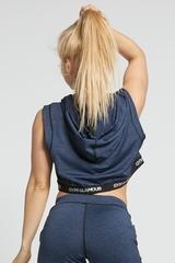 Женская безрукавка Gym Glamour BLUE HOODIE