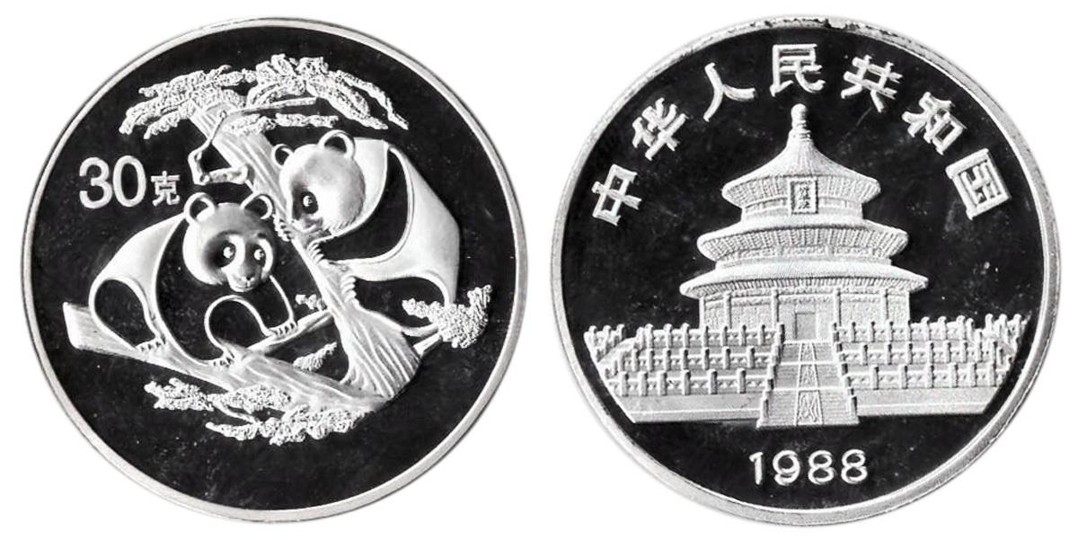 Жетон Китайская панда. Китай. 1988 год. PROOF