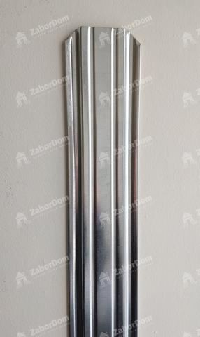 Евроштакетник металлический 85 мм цинк П - образный 0.5 мм