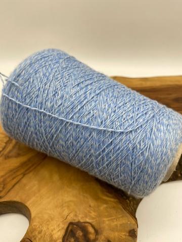 Шерсть ягненка (80%) New Mill  MAGREB 2/15 циановый мулине (голубой)