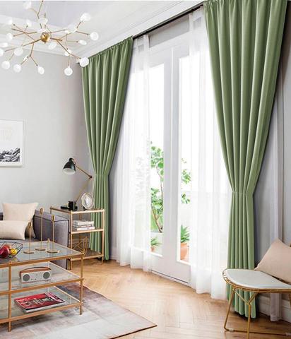 Комплект штор рогожка Раймонда светло-зеленый