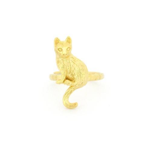 Кольцо Сидящий Котик