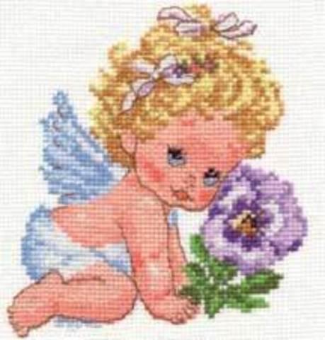 Ангелок счастья¶Размер:12х14см¶Кол-во цветов: 16