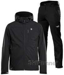 Лыжный утепленный костюм 8848 Altitude Padore Softshell Black 905 Victory Code Cross Warm