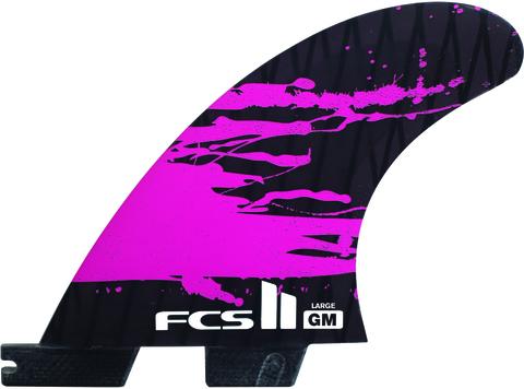 Плавники FCS II GM PC Carbon Fluro Orange Large Tri Retail Fins, компл. из трех, L