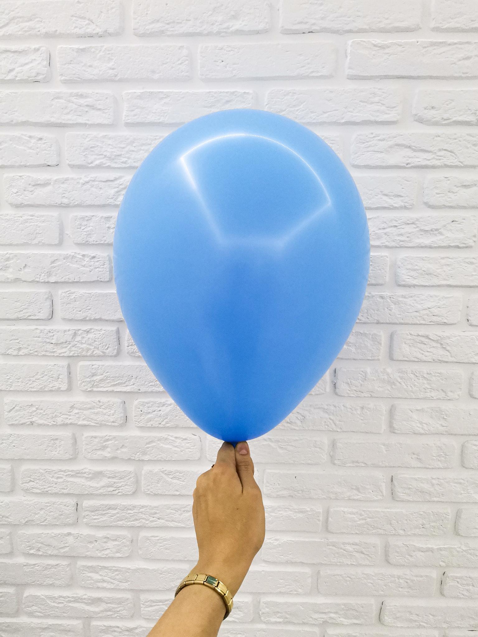 №9 Голубой Гелиевый шар пастель 30см с обработкой